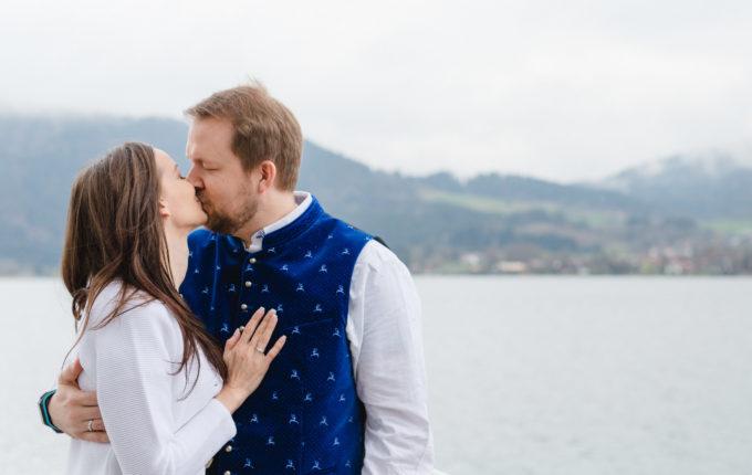 Standesamtliche Hochzeit von Martina und Torsten am Tegernsee